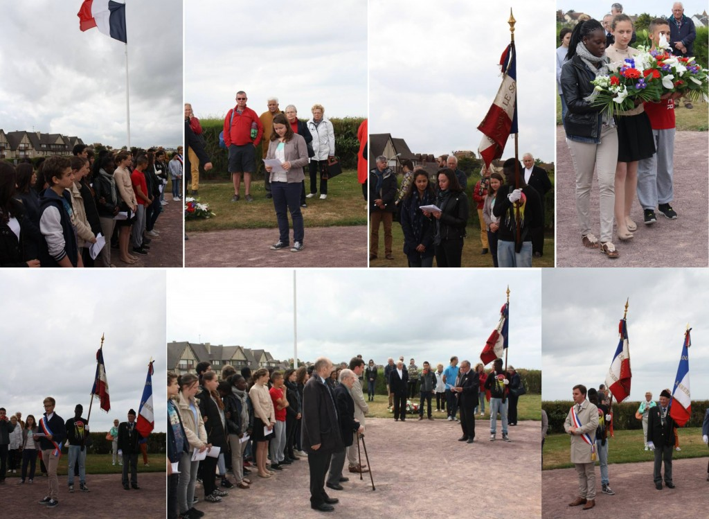 SouvenSouvenir Français Asnières Clichy & Collège Jean MACE - Cérémonie à Ouistréham - 28/05/2015