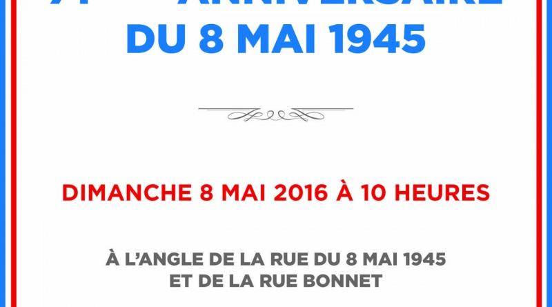 Invitation crmonie 8 mai 1945 clichy le souvenir franais invitation stopboris Gallery